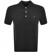 Farah Vintage Short Sleeved Polo T Shirt Black