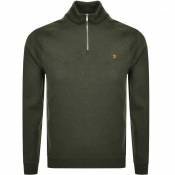 Farah Vintage Jim Half Zip Sweatshirt Green