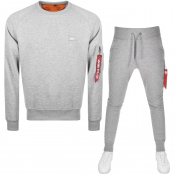 Alpha Industries X Fit Slim Tracksuit Grey