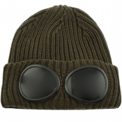 Product Image for CP Company Goggle Beanie Hat Green