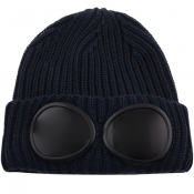 Product Image for CP Company Goggle Beanie Hat Navy