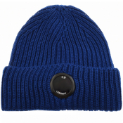 Product Image for CP Company Goggle Beanie Hat Blue