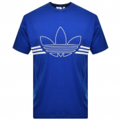 adidas Originals Trefoil Outline T Shirt Blue