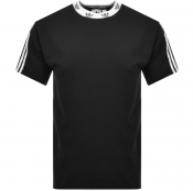 Product Image for adidas Originals Trefoil Rib T Shirt Black
