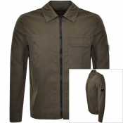 Product Image for CP Company Long Sleeved Full Zip Overshirt Brown