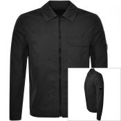 Product Image for CP Company Long Sleeved Full Zip Overshirt Black