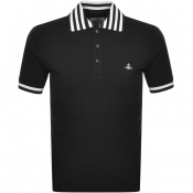 Product Image for Vivienne Westwood Short Sleeved Polo T Shirt Black