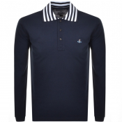 Product Image for Vivienne Westwood Long Sleeved Polo T Shirt Navy