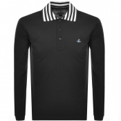 Vivienne Westwood Long Sleeved Polo T Shirt Black