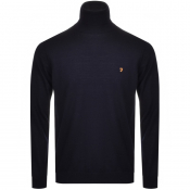 Product Image for Farah Vintage Roll Neck Knitted Jumper Navy