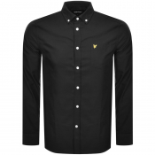Lyle And Scott Long Sleeve Oxford Shirt Black