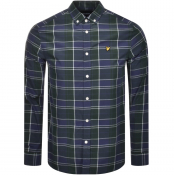 Lyle And Scott Long Sleeve Check Poplin Shirt Navy