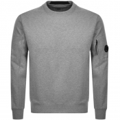 Product Image for CP Company Crew Neck Goggle Sweatshirt Grey