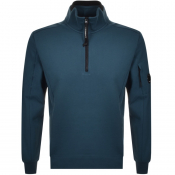 Product Image for CP Company Goggle Half Zip Sweatshirt Blue