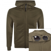 Product Image for CP Company Full Zip Goggle Hoodie Green