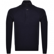 Product Image for CP Company Goggle Knit Jumper Navy
