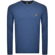 Lyle And Scott Crew Neck Knit Jumper Blue