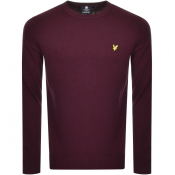 Lyle And Scott Crew Neck Knit Jumper Burgundy
