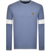 Product Image for Lyle And Scott Tipped Crew Neck Sweatshirt Blue
