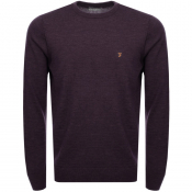 Product Image for Farah Vintage Mullen Wool Jumper Burgundy