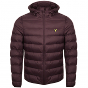 Product Image for Lyle And Scott Hooded Puffer Jacket Burgundy
