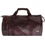 Fred Perry Twin Tonal Barrel Bag Burgundy