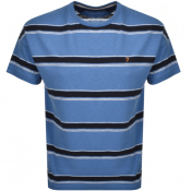 Product Image for Farah Vintage Samuelson Stripe T Shirt Blue