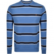 Product Image for Farah Vintage Beck Stripe Sweatshirt Blue