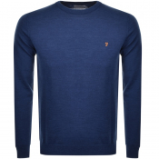 Product Image for Farah Vintage Mullen Knitted Jumper Blue