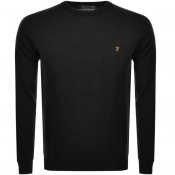 Product Image for Farah Vintage Mullen Knitted Jumper Black