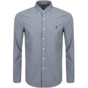 Product Image for Ralph Lauren Long Sleeved Slim Fit Shirt Grey