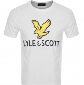 Product Image for Lyle And Scott Crew Neck Logo T Shirt White
