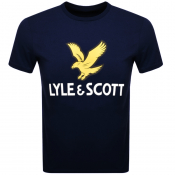 Product Image for Lyle And Scott Crew Neck Logo T Shirt Navy