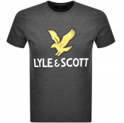 Lyle And Scott Crew Neck Logo T Shirt Grey