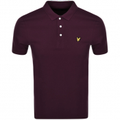 Product Image for Lyle And Scott Short Sleeved Polo T Shirt Burgundy
