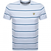 Product Image for Lyle And Scott Multi Striped T Shirt Blue
