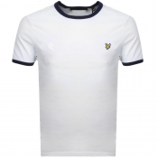 Product Image for Lyle And Scott Ringer Crew Neck T Shirt White