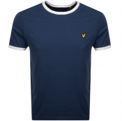 Lyle And Scott Ringer Crew Neck T Shirt Navy