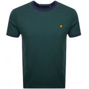 Product Image for Lyle And Scott Ringer Crew Neck T Shirt Green