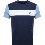 Product Image for Lyle And Scott Panel Crew Neck T Shirt Navy