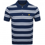 Product Image for Lyle And Scott Stripe Polo T Shirt Navy