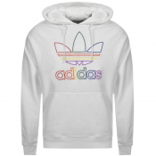 Product Image for adidas Originals Trefoil Pride Hoodie White