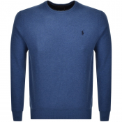 Product Image for Ralph Lauren Crew Neck Waffle Knit Jumper Blue