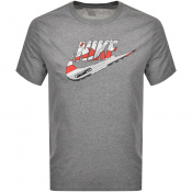 Nike Crew Neck Logo T Shirt Grey