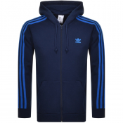 Product Image for adidas Originals 3 Stripes Full Zip Hoodie Navy