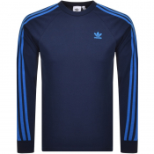 Product Image for adidas Originals Long Sleeve T Shirt Navy