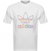 Product Image for adidas Originals Trefoil Pride T Shirt White