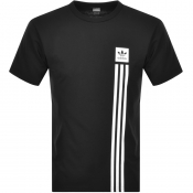 adidas Originals Pillar Logo T Shirt Black