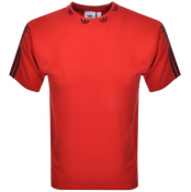 adidas Originals Trefoil Rib T Shirt Red