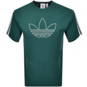 Product Image for adidas Originals Trefoil Outline T Shirt Green